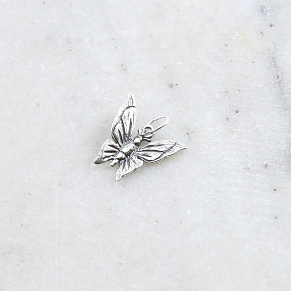 Sterling Silver Beautiful Detailed Fluttering Butterfly Charm Nature Spring Inspirational Insect