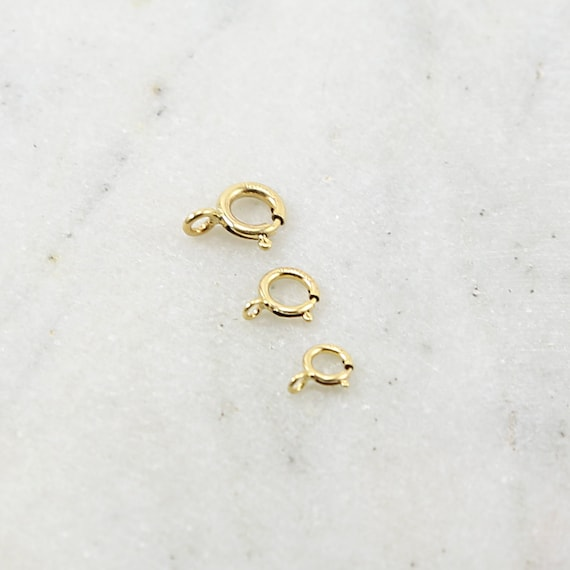 10 Pieces 14K Gold Filled Closed Spring Ring 3 Sizes Choose your Size 7mm, 6mm, 5mm Jewelry Making Supplies Chain Findings