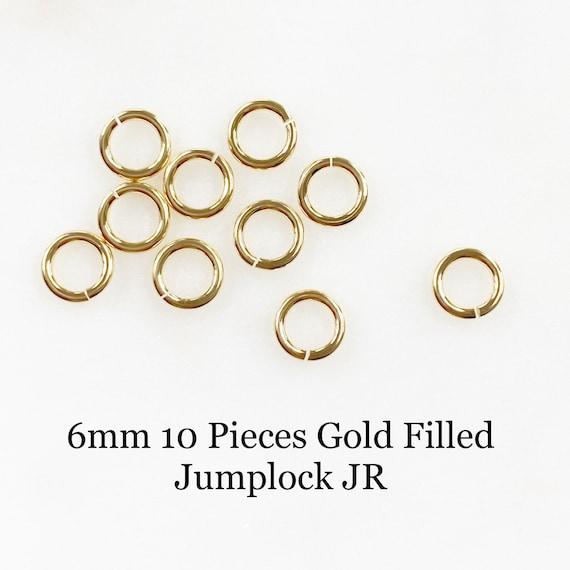 6mm 10 Piece Gold Filled Jumplock Jump Rings