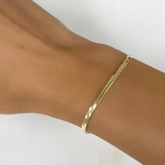 Ready to Wear 18kt Gold Filled 3mm Herringbone Bracelet
