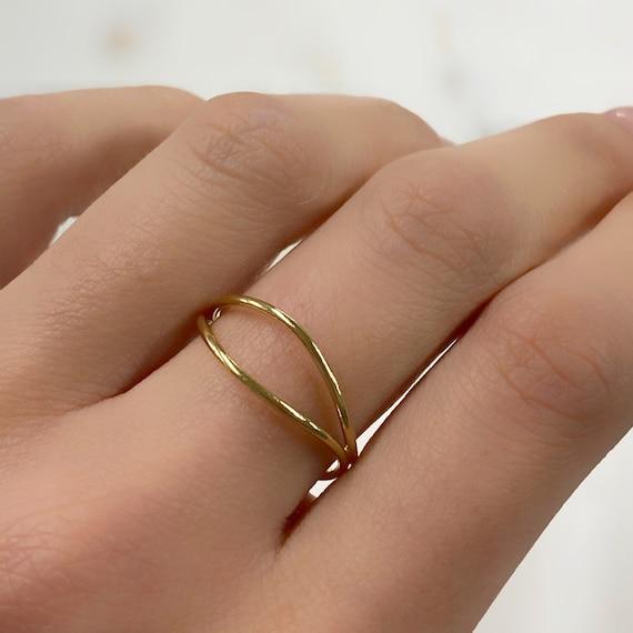 14k Gold Filled Wave Ring