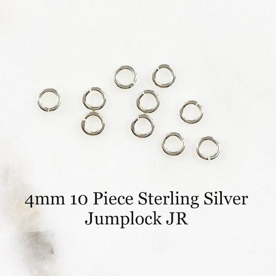 4mm 10 Piece Sterling Silver Jumplock Jump Ring Jewelry Making Supplies
