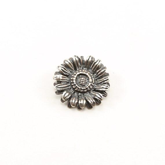 Sterling Silver Detailed Sunflower Charm Nature Flower Plant Summer Pendant