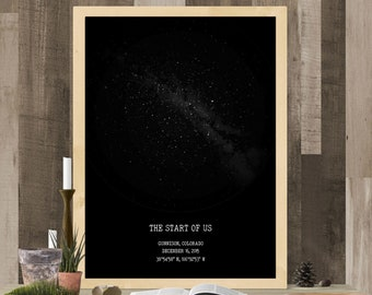 Constellation Custom Star Map/ Night Sky Map/ Personalized Gift for mother/ Custom Sky Map Poster/ sky custom/Star Map Custom Digital Pdf