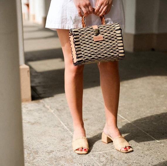 Natural Straw Reed Basket Bag