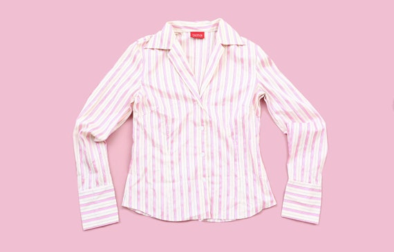 Cute Pink Striped Shirt / Casual / Size Small / Pa