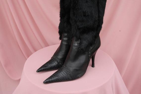 EL DANTES POINTY boots / Furry / Y2K / 90's /  Lea