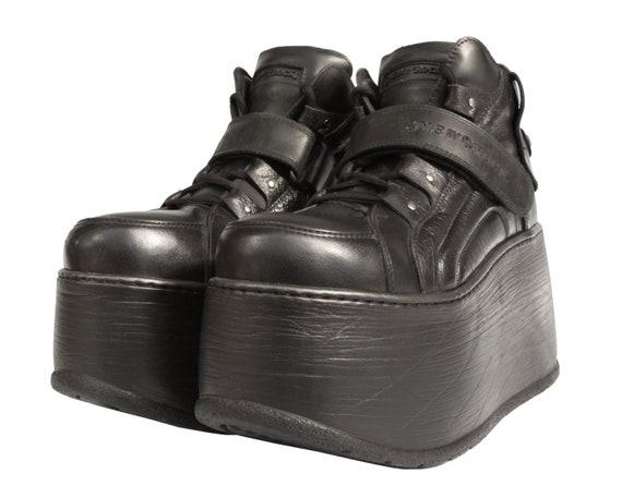 NEW ROCK MEGA Platforms / black / chunky / goth /
