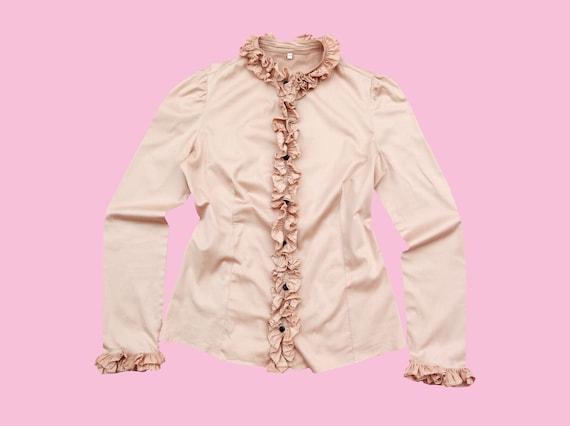 CUTE RUFFLE SHIRT / Cotton shirt / bohemian / boho