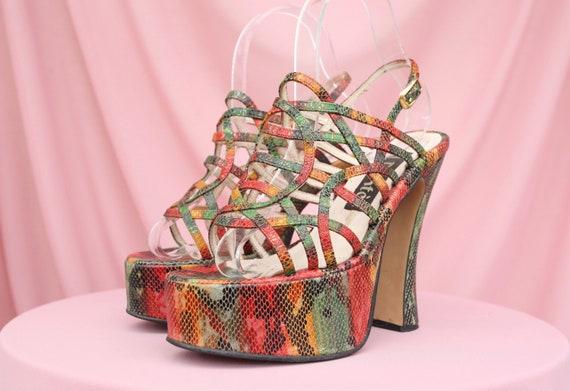 EL DANTES RAINBOW Heels / Made in Spain / Snakeski