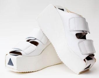 SWEAR / UNIQUE 90S PLATFORM sandals size 39 / plateau / 90's / rave / raver / clubkid / club kid / slip-ons / slip on / original / summer