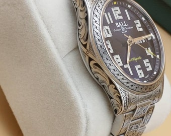 Hand Engraved Watch Ball Engineer lll Starlight automatic men