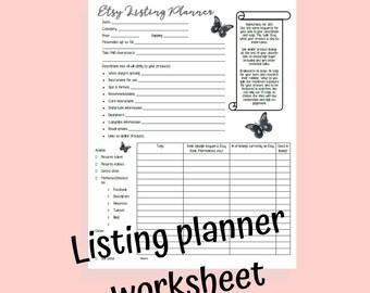 Keyword worksheet | Etsy
