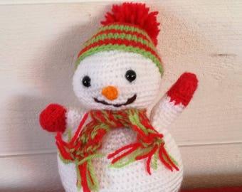 Amigurumi snowman