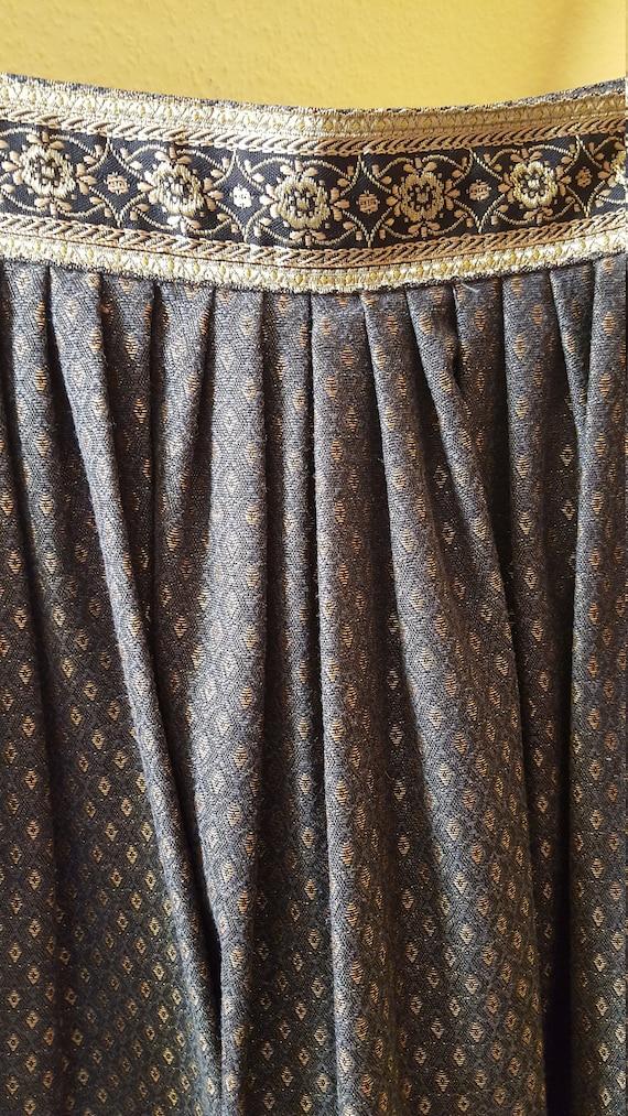 Brocade Bavarian Style Skirt