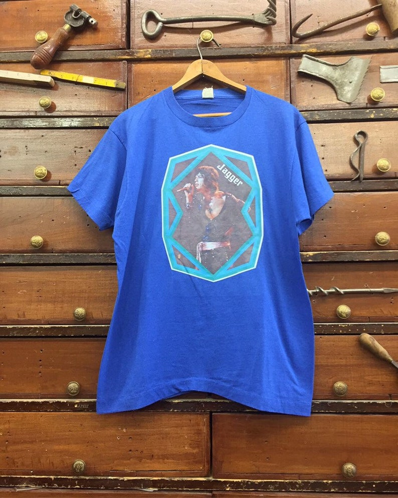 1976 Mick Jagger Rolling Stones Graphic Tee