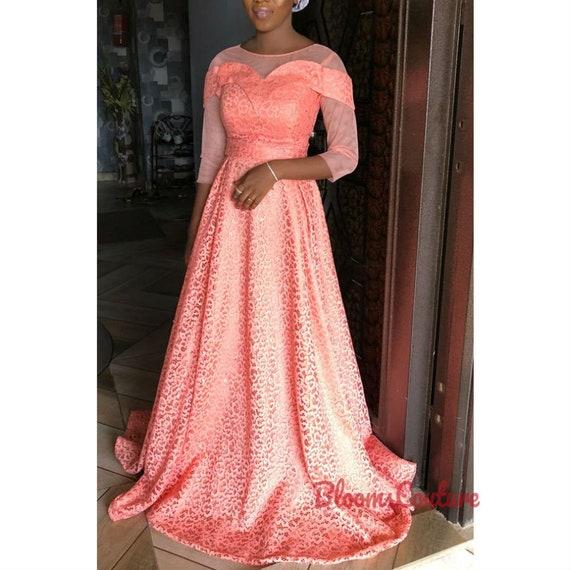 African Print Dress African Prom Dress Ball Dress Etsy