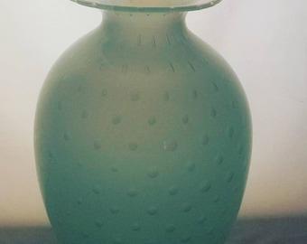 Hand Blown Amphora bubble vase