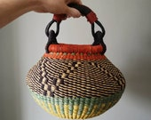 Tiny Fair Trade Pot Basket - Handwoven in Ghana