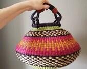 Small Fair Trade Pot Basket - Handwoven in Ghana