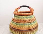 Medium Fair Trade Pot Basket - Handwoven in Ghana