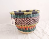 Small Fair Trade Drum Basket - Handwoven in Ghana