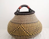 Fair Trade Pot Basket - Handwoven in Ghana