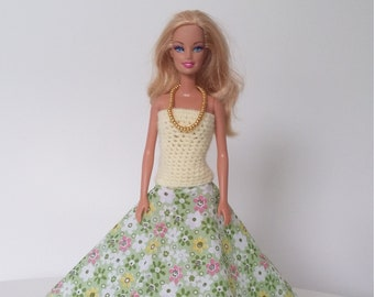 Evening dress spring Barbie made by hand