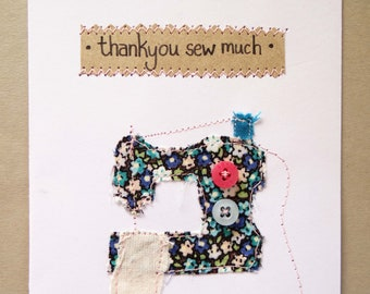 Embroidered Thank you Card | Thank you card