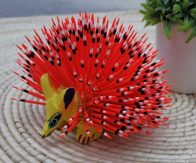 Porcupine assorted wood carved alebrijes Porcupine Alebrijes Porcupine hand painted alebrijes