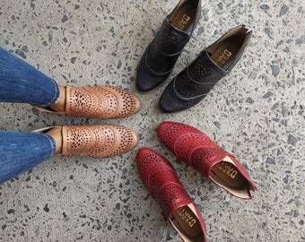 Ankle Boots ~ All Sizes Boho- Women's boots ~ Mexican Style ~ Colorful Leather ~ Mexican Boots ~ Ankle boots