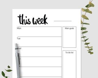 weekly planner etsy