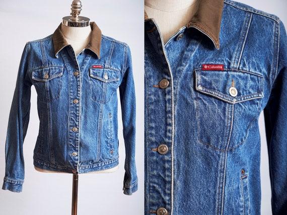 Vintage 90s denim jacket blue jean jacket columbia