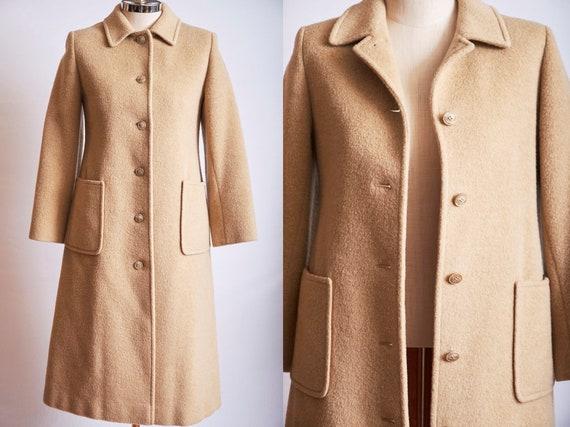 Vintage 70s pendleton camel coat jacket beige llon