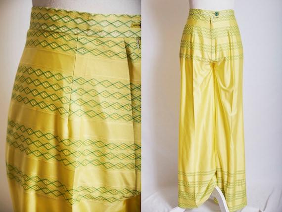 Vintage 70s high waisted pants wide leg disco pant