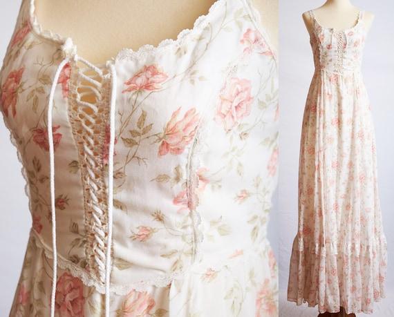 Vintage 70s rare gunne sax dress wedding prairie … - image 1