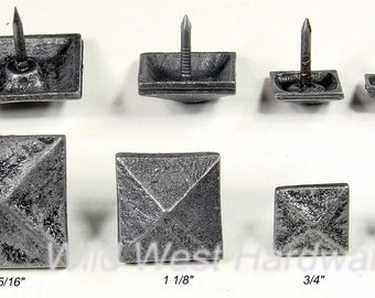 Distressed Square Clavos Pitted Decorative Nails 10 Pack 1