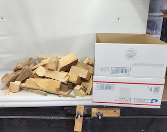 Large Flat Rate Box Filled With Mixed Burl Cut-offs