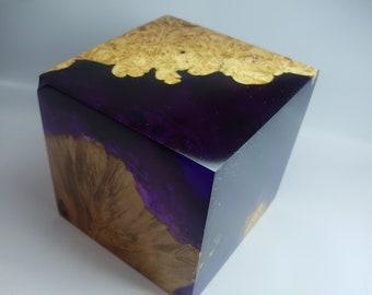 Premium Stabilized Maple Burl Hybrid Cube