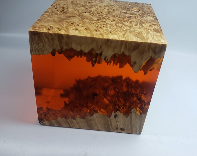Premium Stabilized Maple Burl Hybrid Cube