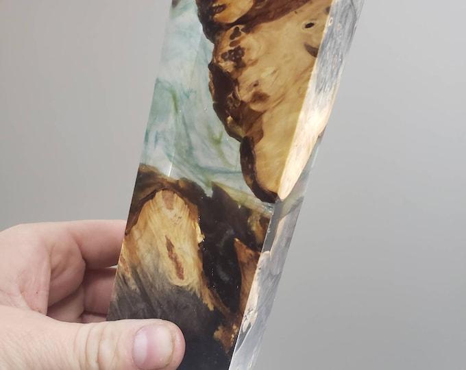 Stabilized buckeye burl hybrid block.