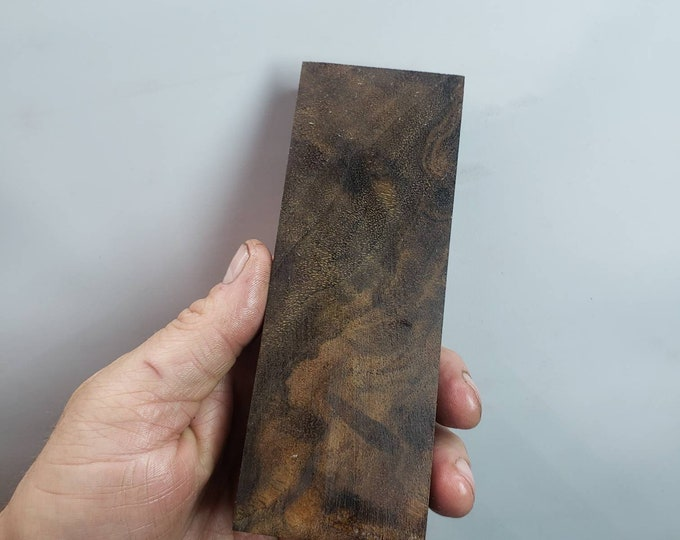 Stabilized walnut burl block