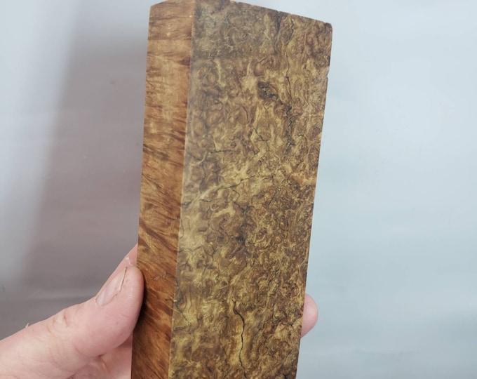 Stabilized gum eucalyptus burl blocks