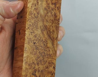PREMIUM a stabilized maple burl block.
