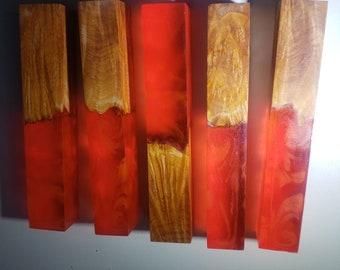 Dye stabilized hybrid pen blanks.