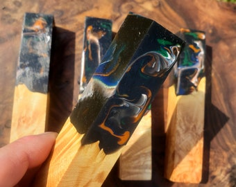 Stabilized Maple Burl Hybrid Pen Blank