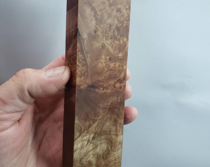 Premium cut stabilized maple burl block.