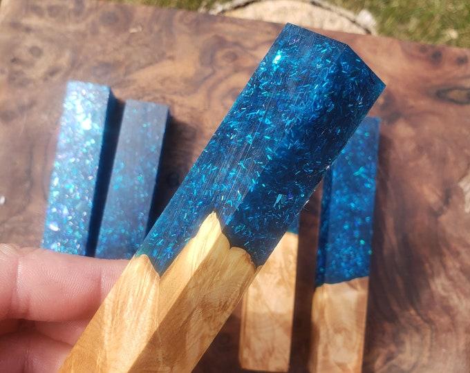 Stabilized Maple Burl Hybrid Pen Blank