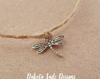 Royal dragonfly ankle hemp bracelet