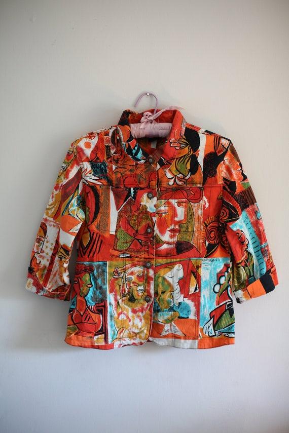 Picasso Denim Style Jacket